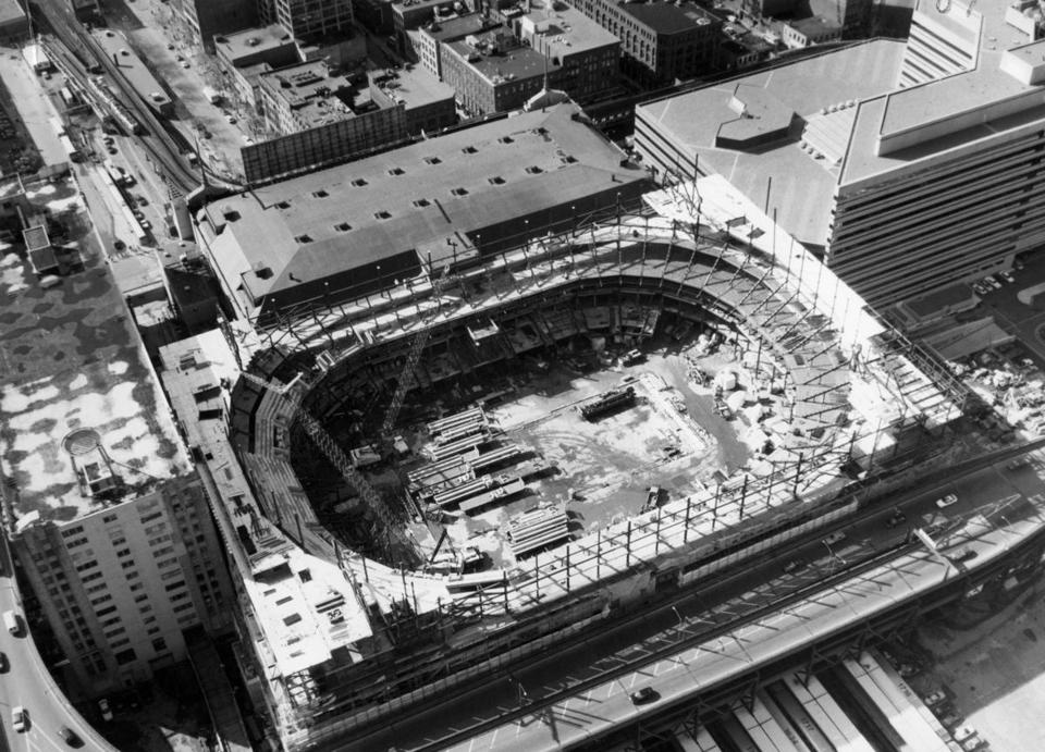 The Boston Garden under construction in 1994.